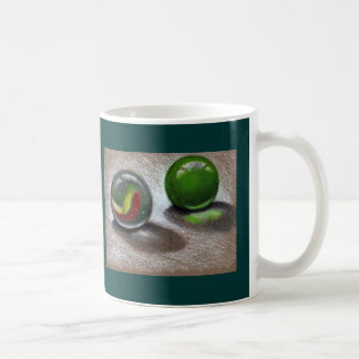 SHINY GLASS MARBLES; REALISM ART COFFEE MUG