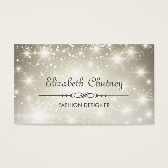 Shiny Glitter and Sparkling Bokeh Business Card