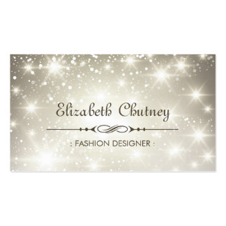 Shiny Glitter and Sparkling Bokeh Pack Of Standard Business Cards