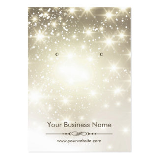 Shiny Glitter Gold Sparkles Earring Display Cards Pack Of Chubby Business Cards