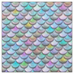 Shiny glossy pearlescent colourful mermaid scales fabric