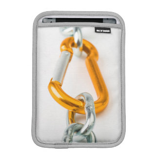 Shiny gold and silver chain clip iPad mini sleeves