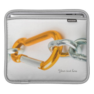 Shiny Gold and Silver Colors Chain Clip iPad Sleeve
