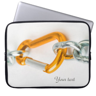 Shiny Gold and Silver Colors Chain Clip Laptop Sleeve