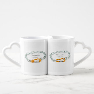 Shiny Gold and Silver Colors Chain Coffee Mug Set