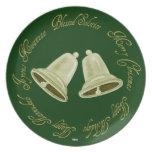 Shiny Gold Bells Seasonal plate