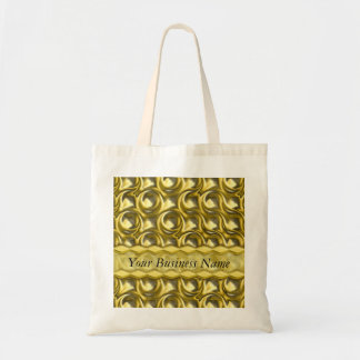 Shiny Gold Loops Canvas Bags