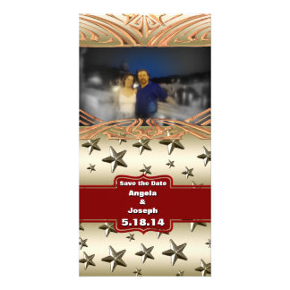 Shiny Gold Stars Background Picture Card