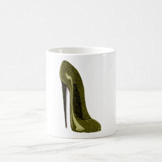 Shiny Gold Stiletto Shoe Coffee Mug