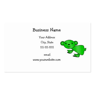 Shiny green koala business card templates