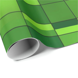 Shiny Green Mosaic Pattern Wrapping Paper