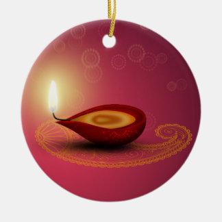 Shiny Happy Diwali Diya - Ornament