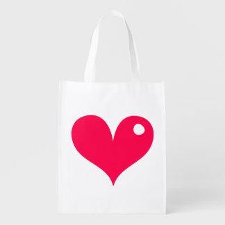 Shiny Heart Market Totes