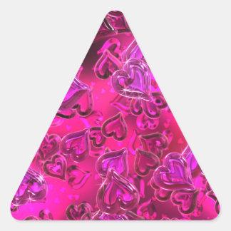 Shiny Hearts Triangle Sticker