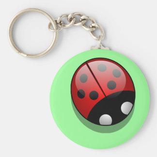 Shiny ladybug keychain