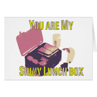 shiny lunch box card