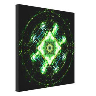 Shiny Marble Mandala Canvas Print