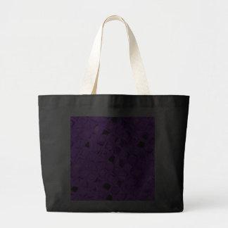 Shiny Metallic Amethyst Purple Diamond Black Canvas Bags