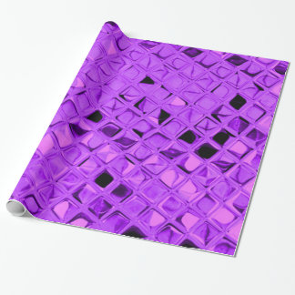 Shiny Metallic Amethyst Purple Diamond Serpentine Wrapping Paper