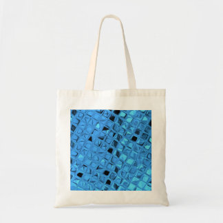 Shiny Metallic Blue Diamond Party Favor Gift Budget Tote Bag