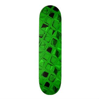 Shiny Metallic Emerald Green Diamond Serpentine Skate Board Deck