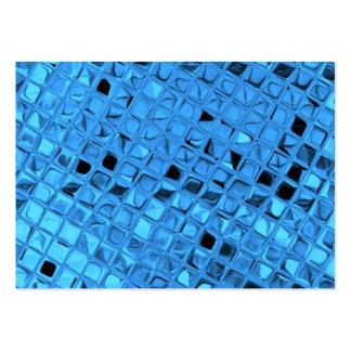 Shiny Metallic Girly Blue Diamond Sissy Sassy Business Card Template