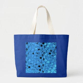 Shiny Metallic Girly Blue Diamond Sissy Sassy Jumbo Tote Bag