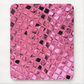 Shiny Metallic Girly Pink Diamond Sissy Sassy Mouse Pads