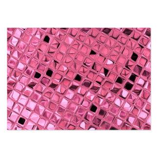 Shiny Metallic Girly Pink Diamond Sissy Sassy Pack Of Chubby Business Cards