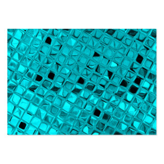 Shiny Metallic Girly Teal Diamond Sassy Sissy Pack Of Chubby Business Cards