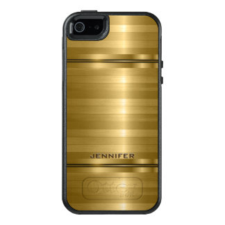 Shiny Metallic Gold Stripes OtterBox iPhone 5/5s/SE Case
