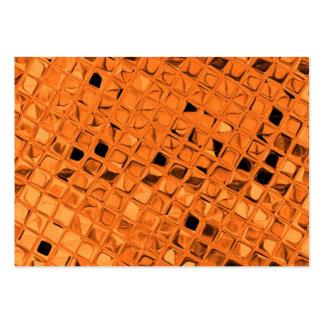 Shiny Metallic Orange Diamond Sissy Sassy Business Card