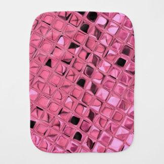 Shiny Metallic Pink Diamond Faux Serpentine Burp Cloth