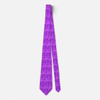 Shiny Metallic Purple Diamond Mirrors Tiled Tie