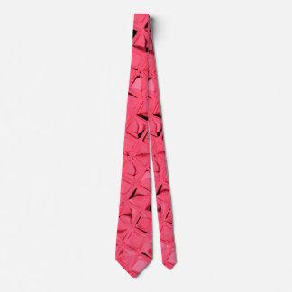Shiny Metallic Red Diamond Mirrors Tie