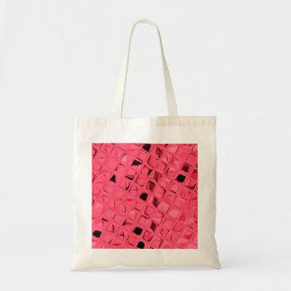 Shiny Metallic Red Diamond Party Favor Gift Budget Tote Bag