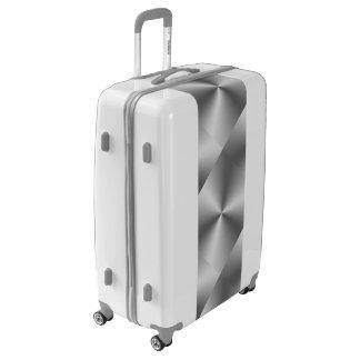 Shiny Metallic Silver Grey Luggage Suitcase