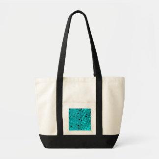 Shiny Metallic Teal Diamond Sassy Beach Fashion Bag