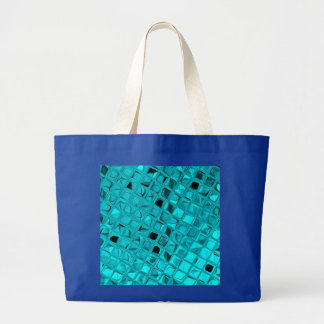 Shiny Metallic Teal Diamond Sassy Royal Blue Bags