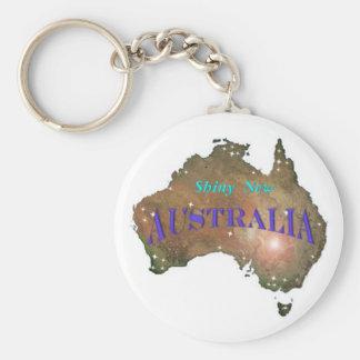 Shiny New Australia Key Ring