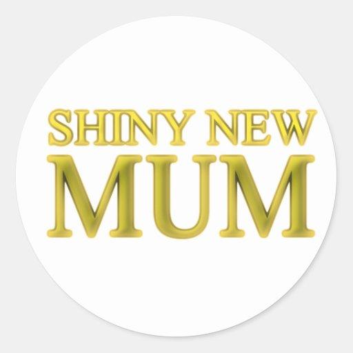 Shiny New Mum Stickers