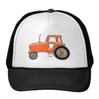 Shiny Orange Tractor Cap