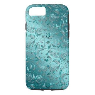 Shiny Paisley Turquoise iPhone 8/7 Case