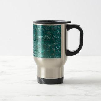 Shiny Paisley Turquoise Travel Mug