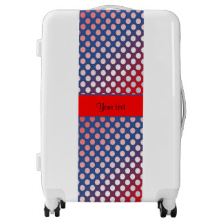 Shiny Patriotic Dots Luggage