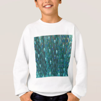 Shiny Peacock Feathers Sweatshirt