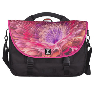 Shiny Pink Dahlia Bag For Laptop