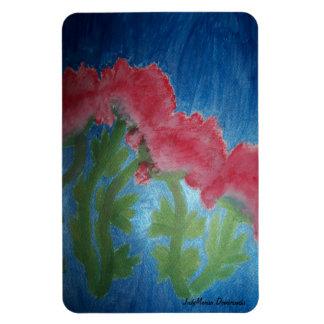 Shiny Pink Flowers Rectangular Magnet