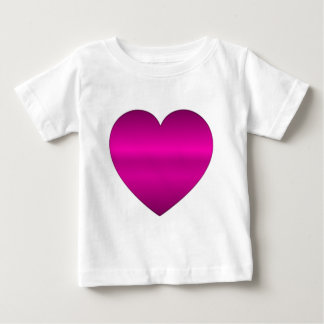 Shiny Pink Heart Baby T-Shirt