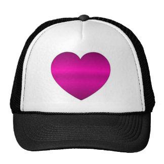 Shiny Pink Heart Cap